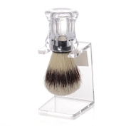 Set Shaving Brush Pig Brushes with Holder, transparent - Erbe Solingen