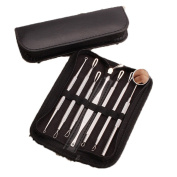 Lalang Stainless Steel Pimple Remover Blackhead Extractor Beauty Tool Blackhead Remover Kit 7 in 1 Comedone Extractor Tool Set