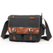 E-Bestar Men's Shoulder Bag Multicolour BLACK
