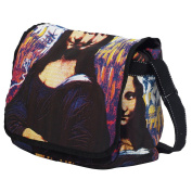 Vintage 70's 70ties Pop Art Lady Shopper Hand Bag Mona Lisa