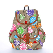 Snoogg Lollipop Fashion Backpack For Women Printed Shoulder School Travel Camping Backpack Rucksack For Ladies Girls