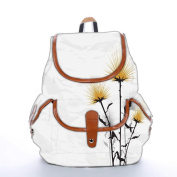 Snoogg Simple Text White Fashion Backpack For Women Printed Shoulder School Travel Camping Backpack Rucksack For Ladies Girls