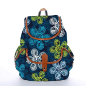 Snoogg Multicolor Floral Abstract Fashion Backpack For Women Printed Shoulder School Travel Camping Backpack Rucksack For Ladies Girls