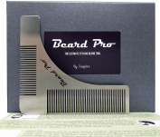 Beard Comb Shaping Tool Ideal for Your Beard Grooming Kit. The Best Template to Shape your Beard Neckline and More, BEARD PRO