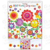 Robert Frederick 2017 Family Organiser Calendar, Assorted