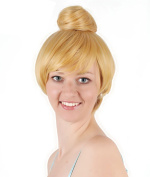 30cm Short Blonde Fairy Tinker Bell Party Hair Cosplay Wig