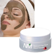 Face Mask Clay Powder, Purifying Healing Skin Cleanser, Firming Detox for Dry and Problem Skin, 100% Natural Skincare. Naturally Mediterranean. Made in Spain. 50 ml powder makes lots of masks