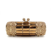Flada Ladies Luxury Handbag Women Evening Clutch Purse Wedding Bags Gold