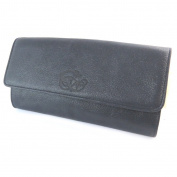 """Sequin leather purse bag 'Les Trésors De Lily'marine (2 compartments)- 16x8x3 cm (6.30""""x3.15""""x1.18"""")."""