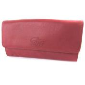 """Bag pouch leather glitter 'Les Trésors De Lily'red (2 compartments)- 16x8x3 cm (6.30""""x3.15""""x1.18"""")."""