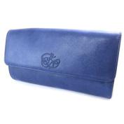 """Bag purse leather pouch 'Les Trésors De Lily'blue de france (2 compartments)- 16x8x3 cm (6.30""""x3.15""""x1.18"""")."""