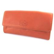 """Bag pouch leather glitter 'Les Trésors De Lily'orange coral (2 compartments)- 16x8x3 cm (6.30""""x3.15""""x1.18"""")."""