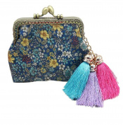 Vovotrade Womens Tassels Waterproof Flower Small Wallet Card Holder Coin Purse Bag Gift