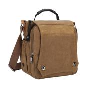 Demiawaking New Men Fashion Canvas Bag Handbag Shoulder Bag Crossbody Bag Khaki
