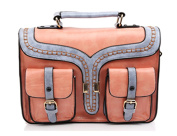 Whoinshop Women's Vintage PU Leather Retro Briefcase Satchel Messenger Crossbody Bag
