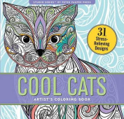 Cool Cats Adult Coloring Book