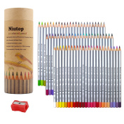 NIUTOP 72 Coloured Pencils, Marco Raffine fine art Drawing Pencils For Artist Sketch / Adult Colouring Books/Secret Garden Colouring Book