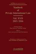 Yearbook of Private International Law Vol. XVII - 2015/2016