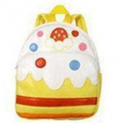 Children backpack of PU material White cake