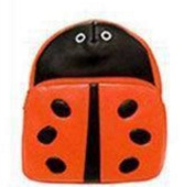 Children backpack of PU material of animal Red bettle