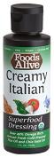 Foods Alive Superfood Dressing, Creamy Italian, Organic, 120ml