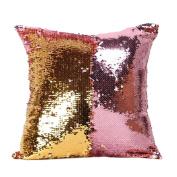 SMTSMT Double Colour Glitter Sequins Throw Pillow Case -15.18840cm
