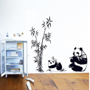 Hatop Home Decor Mural Vinyl Wall Sticker DIY Panda Bamboo Pattern Nursery Room Wall Art Decal