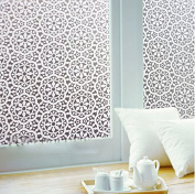 Coavas Chinese characteristics Lace Flower Home Office Privacy Static Cling Frost Glass Window Film 45cm by 200cm