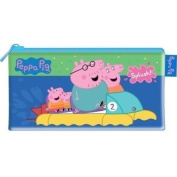 Large Peppa Pig And Family Stationery Zip Up Pencil Case