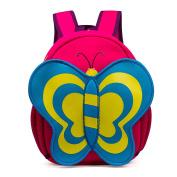 Children's Cute Cartoon Satchel Bag Kid's Animal Shape Schoolbag Travel Backpack, Pink Butterfly