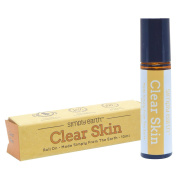 Clear Skin Essential Oil Blend Roll-On Bottle by Simply Earth - 10ml, 100% Pure Therapeutic Grade