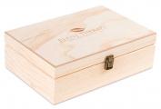 Wooden Essential Oil Box with Plant Therapy Logo - Holds 55 (various sized) Bottles