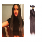 XCCOCO Hair 3pcs Bundles Real Virgin Peruvian Remy Silk Straight Hair Extensions Unprocessed Human Hair Weft Bundles Set