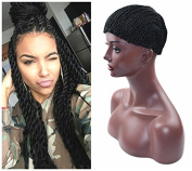 Braided Cap for Crochet Havana Mambo Twist Braids Hair Extensions or Weaves, 1B