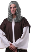 Sepia Costume New Jesus Wig Synthetic Wig - Grey