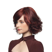 Aoert Ombre Red Wigs for Women Short Heat Resistant Synthetic Cosplay Wig 41cm Side Party