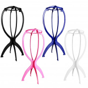 AStorePlus Folding Stable Wig Stand Hair Hat Cap Holder, 4 Pack Of 4 Colours