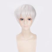Tokyo Ghoul Kaneki Ken Grey Short Synthetic Hair Cosplay Wig