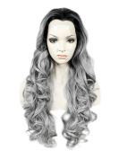 Lace Wig 70cm Long Wave Hair High Density 150-180% Synthetic Lace Front Wig