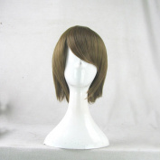 Durarara DRRR Mikajima Saki Dark Grass Green 35cm Short Cosplay Wig + Free Wig Cap