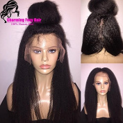 Foxys' Hair Unproceed Italian Yaki Full Lace Human Hair Wigs Mongolian Kinky Straight Human Hair wigs 130% Density