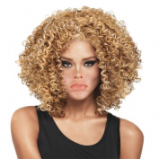 Rise World Wig 40cm Short Carve Curly Fluffy Anime Cosplay Full Head Wig Blonde