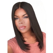 """Rise World Wig 45cm 18"""" Long Straight Carve Costume Cosplay Wig Black Mix Brown"""