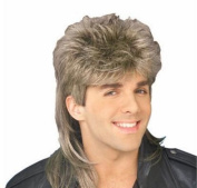 Diy-Wig Stylish Mens Retro 70s 80s Disco Mullet Wig Fancy Party Accessory Cosplay Wig