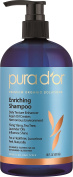PURA D'OR Enriching Aloe Vera & Essential Oils Premium Organic Argan Oil Shampoo, 16 Fluid Ounce