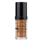 L.A. Girl Pro Coverage Liquid Foundation, Warm Caramel, 0.95 Fluid Ounce