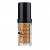 L.A. Girl Pro Coverage Liquid Foundation, Warm Beige, 0.95 Fluid Ounce
