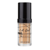 L.A. Girl Pro Coverage Liquid Foundation, Natural, 0.95 Fluid Ounce