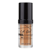 L.A. Girl Pro Coverage Liquid Foundation, Soft Honey, 0.95 Fluid Ounce