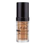 L.A. Girl Pro Coverage Liquid Foundation, Soft Honey, 0.95 Fluid Ounce